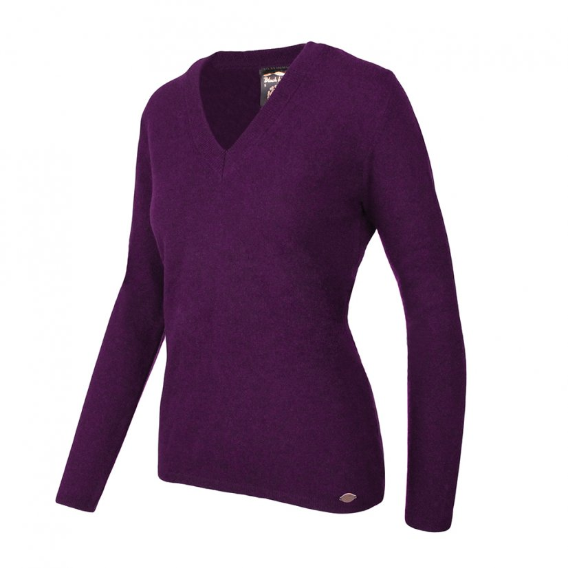 Ladies merino sweater Lada - Lilac - Size: M