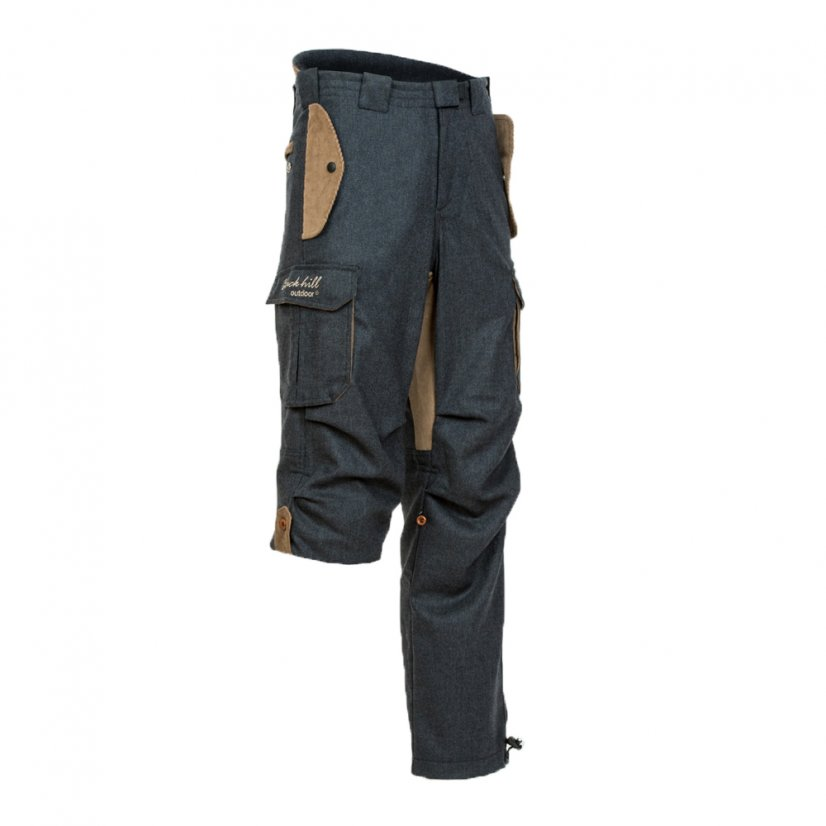 Men's merino trousers Hiker cargo Blue - Size: S