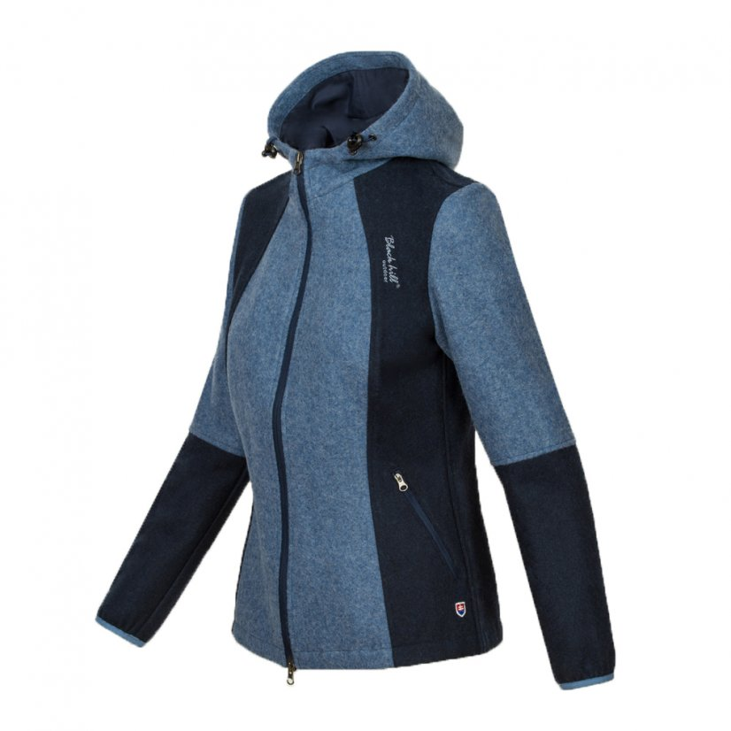 Ladies merino jacket Milica Blue/Darkblue