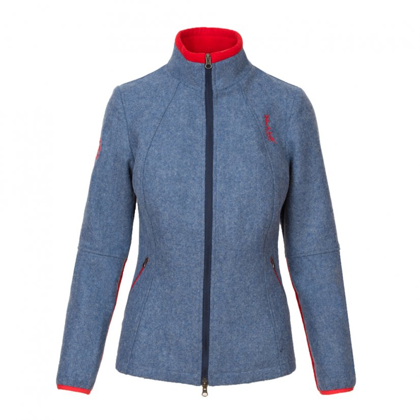 Ladies merino jacket Luna Blue/Red - Size: XL