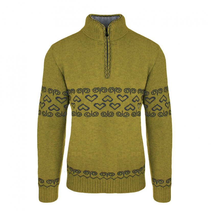 Men's merino sweater Patriot - Honey - Size: S