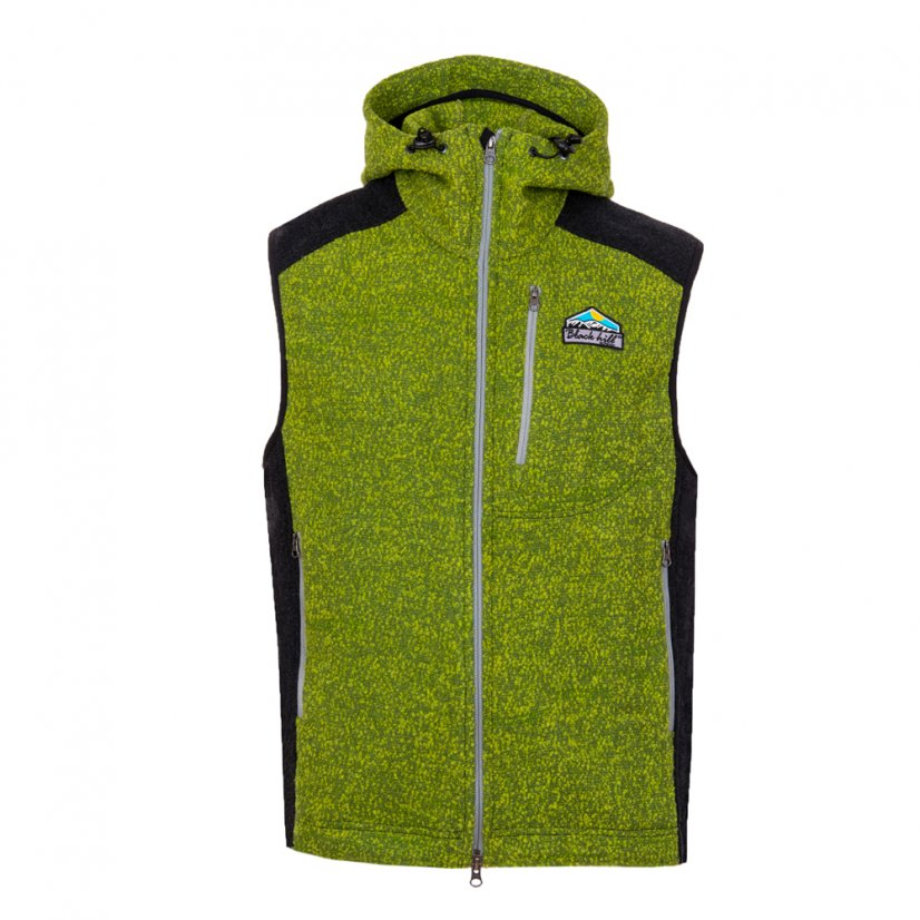 Men's merino vest Vepor Green/Anthracite - Size: L