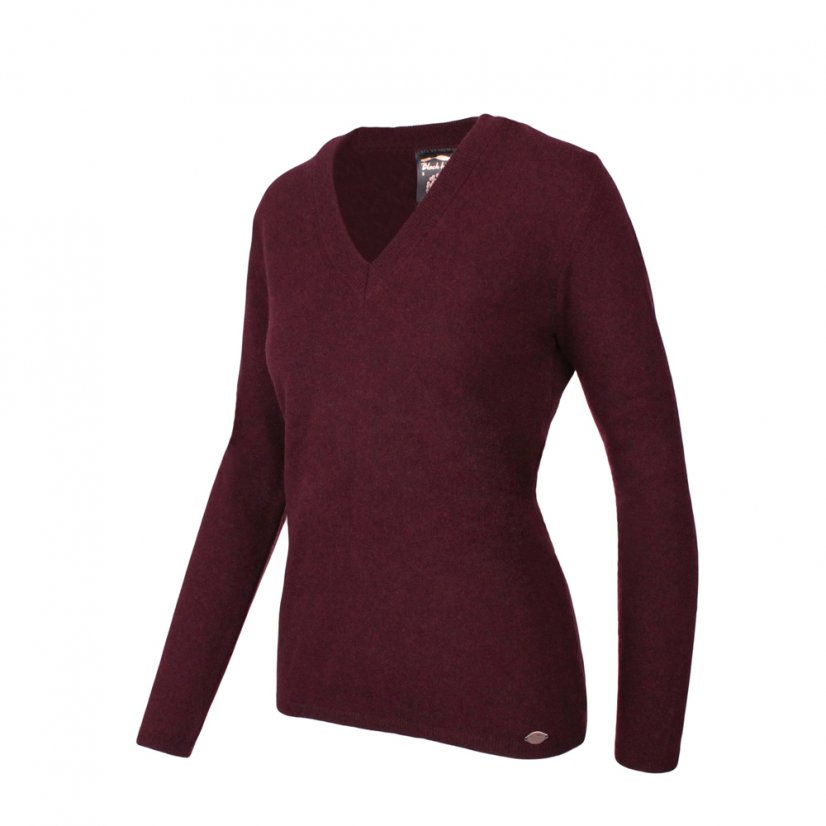 Ladies merino sweater Lada - Burgundy - Size: L