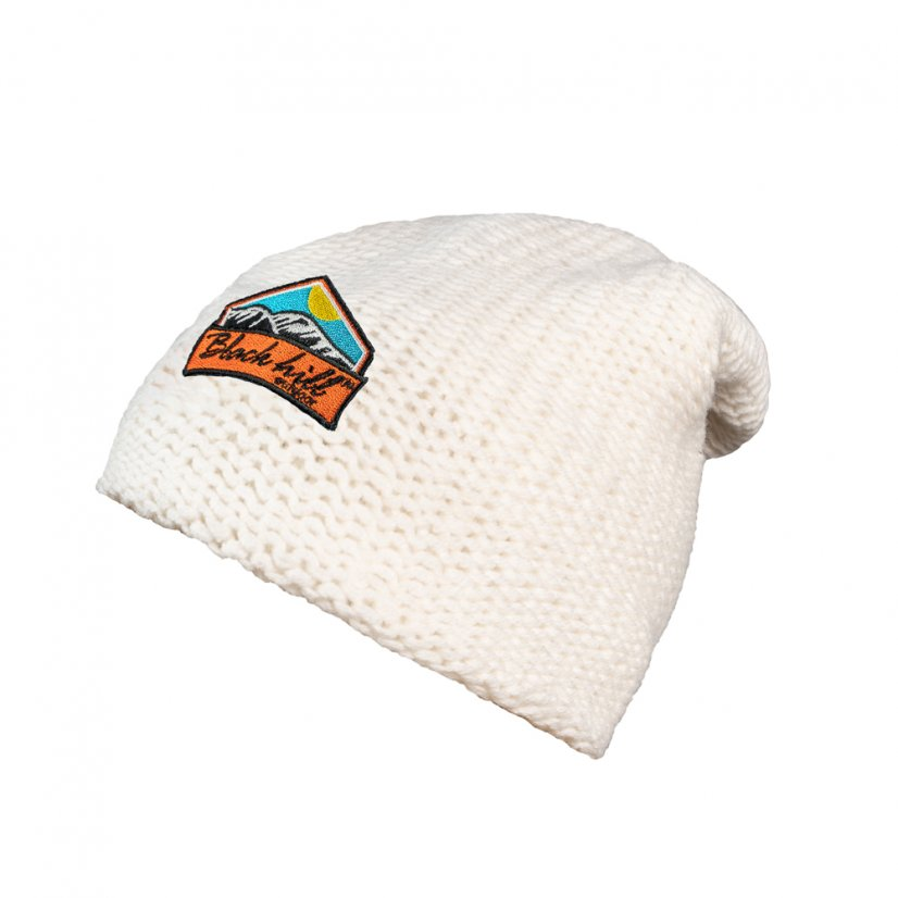 Merino cap Arctic - White/Orange logo