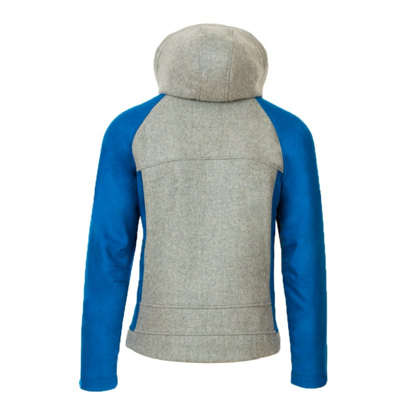 Men's merino jacket Forester Blue/Gray - Size: L