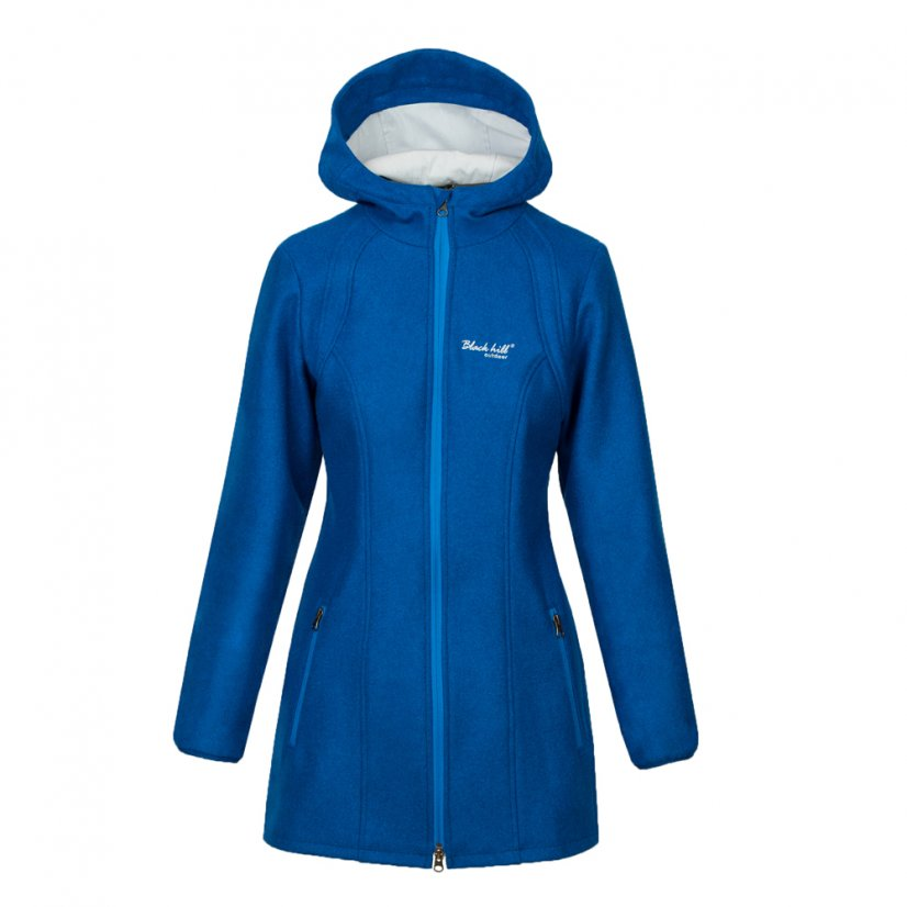 Ladies merino coat Diana Queen-Blue - Size: S