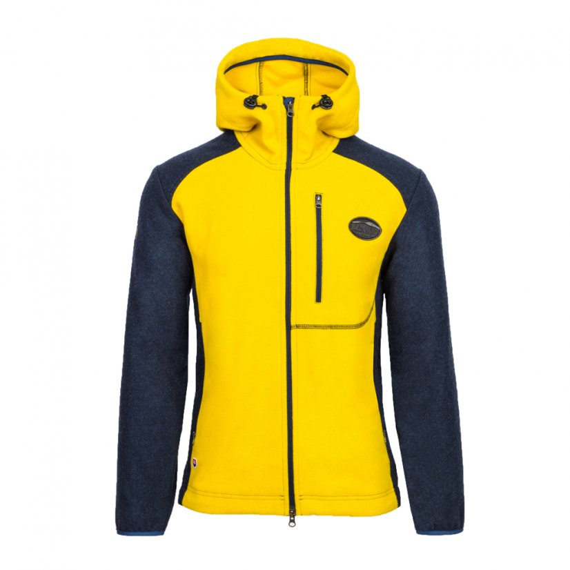 Men's merino jacket Veles Yellow - Farba: Yellow/Black, Size: L