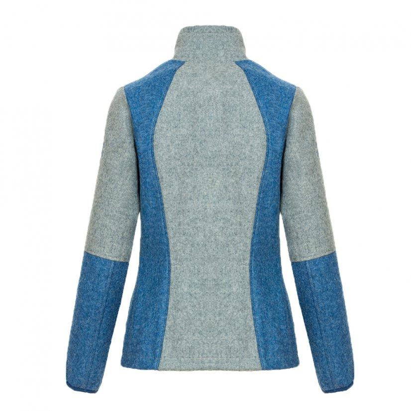 Ladies merino jacket Luna Blue/Gray - Size: S