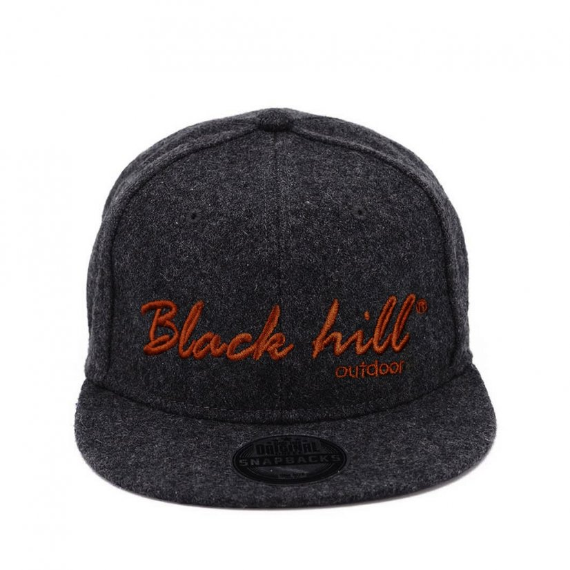 Black hill outdoor cap Anthracite /Red logo