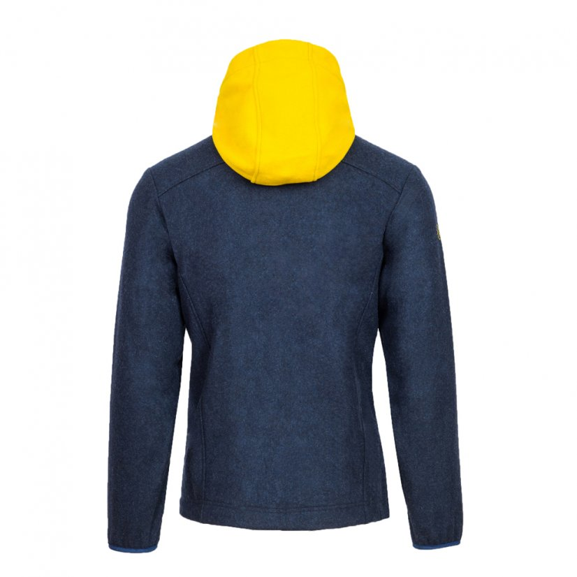 Men's merino jacket Veles Yellow - Size: M
