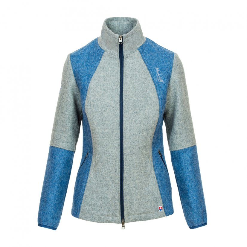 Ladies merino jacket Luna Blue/Gray - Size: M