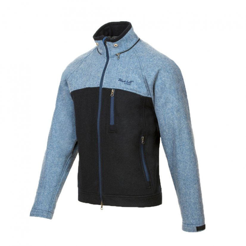 Men's merino jacket Stribog Blue/Black - Size: XL