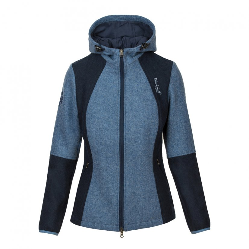 Ladies merino jacket Milica Blue/Darkblue - Size: M