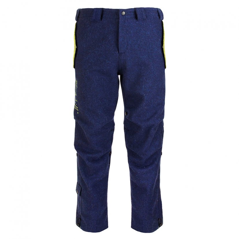 Men's merino trousers Sherpa Blue - Size: S