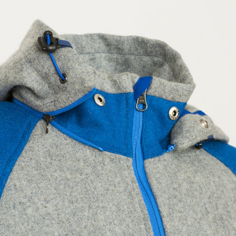 Men's merino jacket Forester Blue/Gray - Size: S