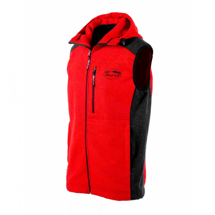 Men's merino vest Vepor Red - Size: S