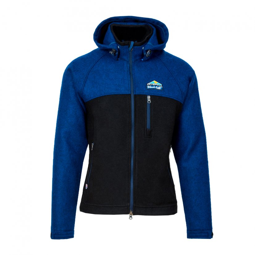 Men's merino jacket Gorazd Blue/Black - Size: L
