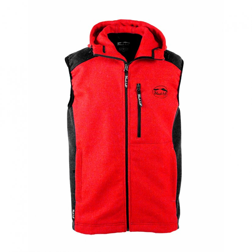 Men's merino vest Vepor Red