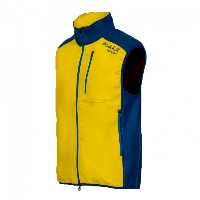 Men's merino vest Muran Yellow/Blue - Size: M
