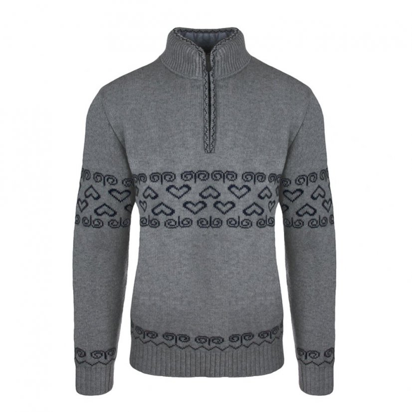 Men's merino sweater Patriot - Gray - Size: L