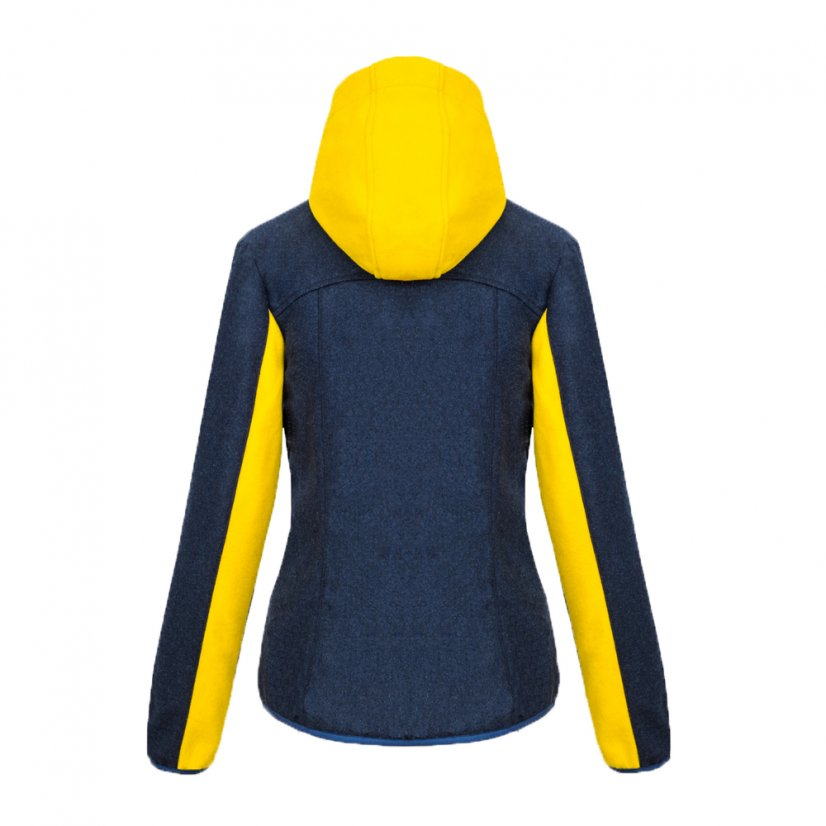 Ladies merino jacket Vesna Yellow/Blue - Size: XL