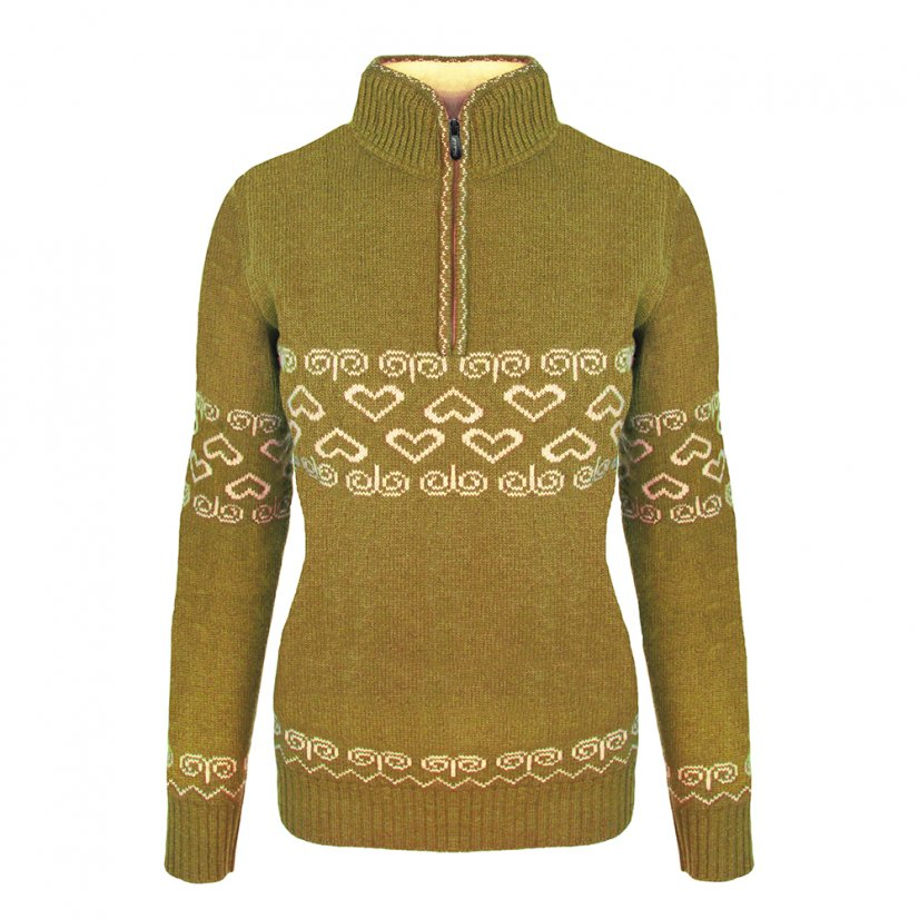 Ladies merino sweater Patria - Honey - Size: M