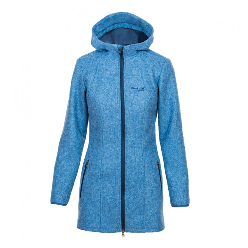 Ladies merino coat Diana Blue - Size: M