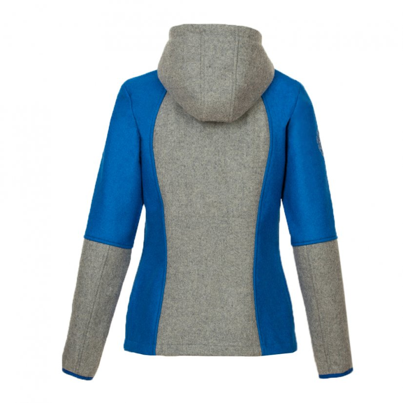 Ladies merino jacket Milica Blue/Gray - Size: L
