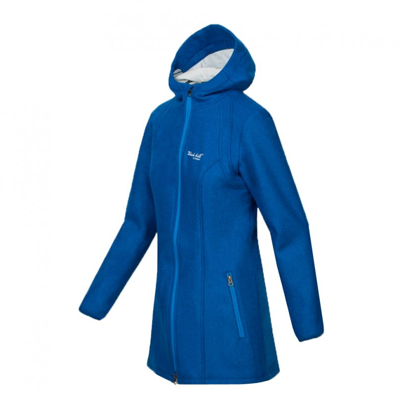 Ladies merino coat Diana Queen-Blue - Size: M