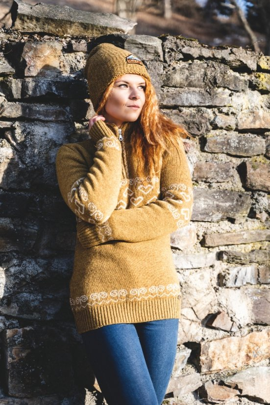 Ladies merino sweater Patria - Honey