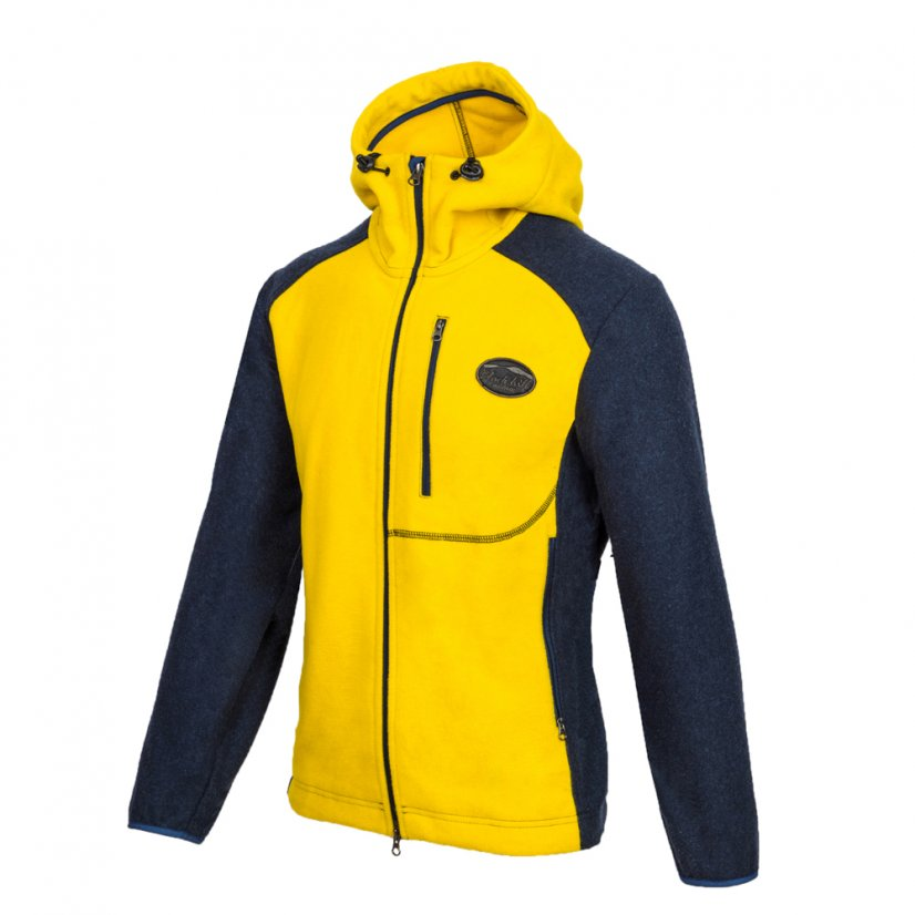 Men's merino jacket Veles Yellow - Size: S