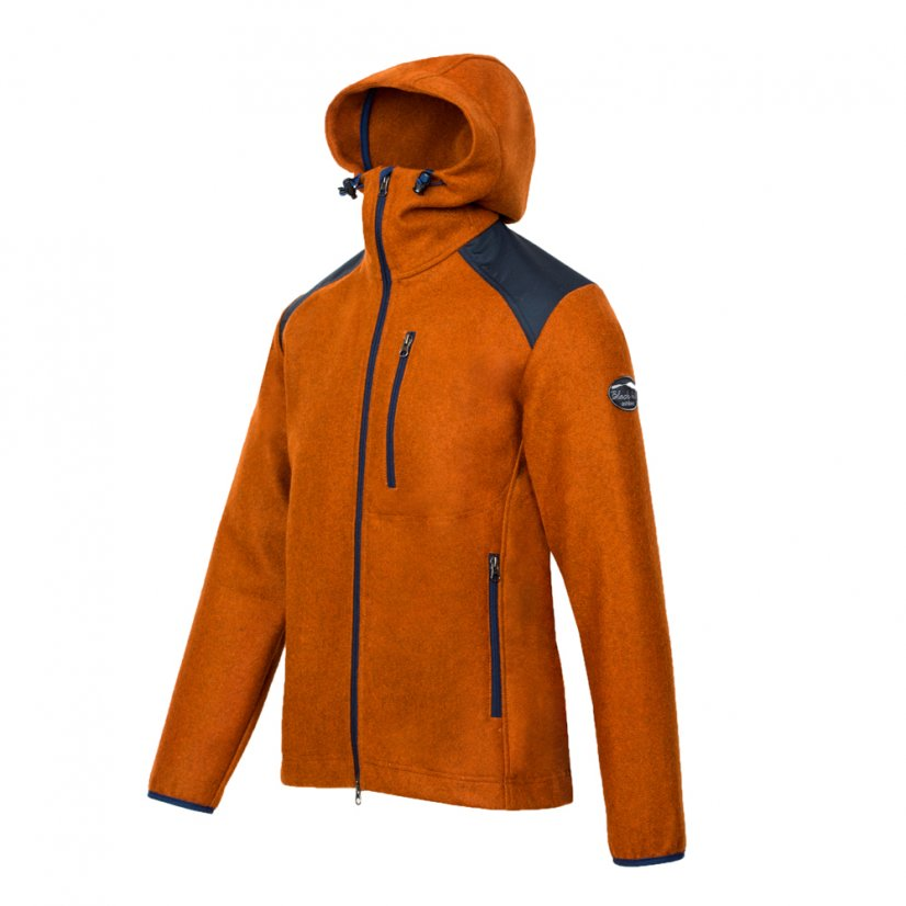 Men's merino jacket Goral Dark Orange - Size: XL
