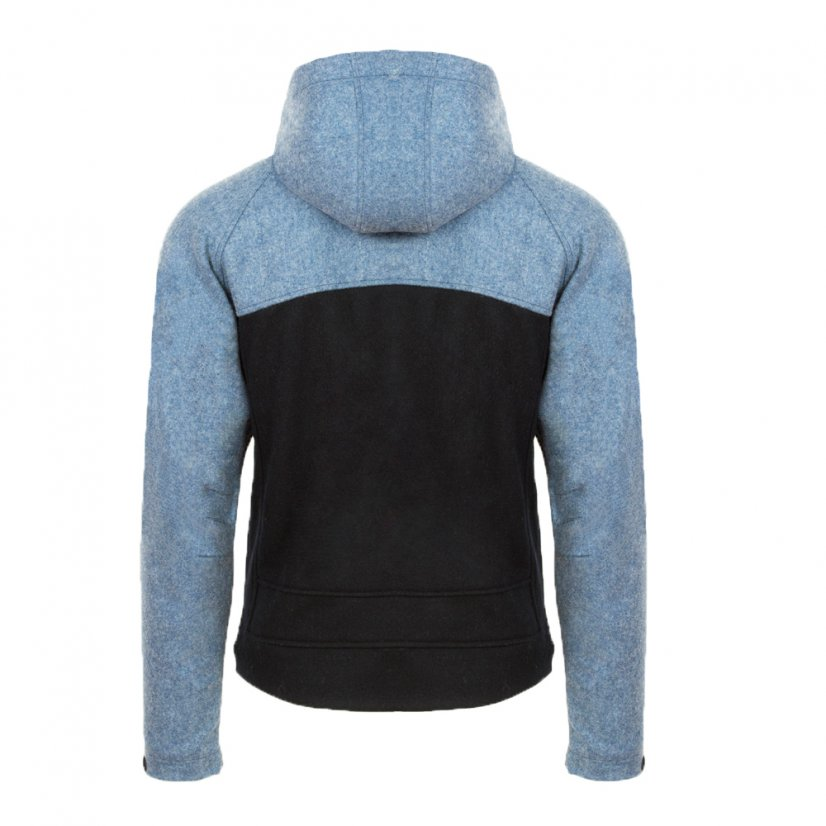Men's merino jacket Stribog Blue/Black - Size: S