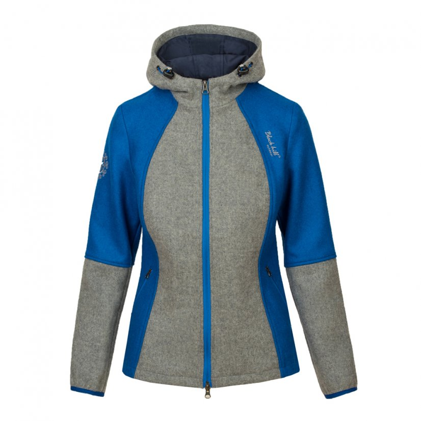 Ladies merino jacket Milica Blue/Gray - Size: S